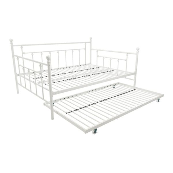DHP 4024159 Manila Full Size Daybed and Twin Size Trundle White