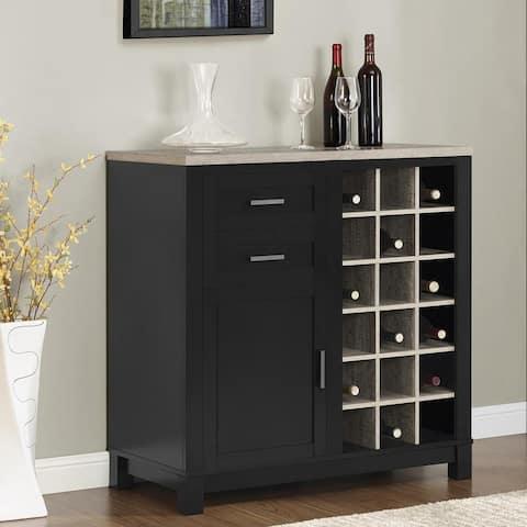 "Porch & Den Pitcairn Wine Cabinet - 37""h x 36""w x 18""d"