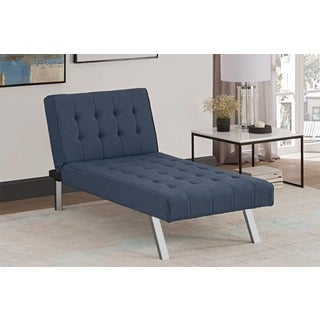 Avenue Greene Ella Blue Linen Chaise
