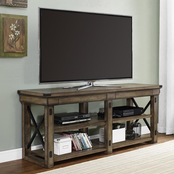 Avenue Greene Woodgate Rustic Grey 65 inch TV Stand