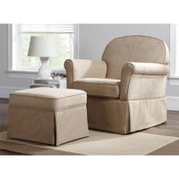 Avenue Greene Hayes Swivel Beige Glider & Ottoman Set