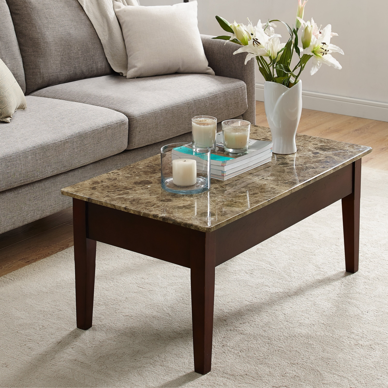 Avenue Greene Josie Faux Marble Lift Top Coffee Table Overstock 20187036