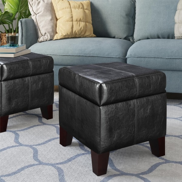 Tremendous Shop Dorel Living Small Black Storage Ottoman On Sale Onthecornerstone Fun Painted Chair Ideas Images Onthecornerstoneorg