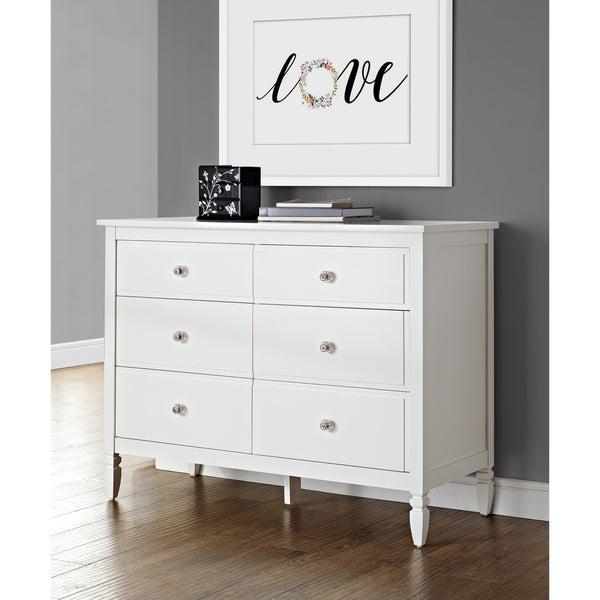 Dorel Living Vivienne White Six Drawer Dresser