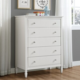 Avenue Greene Rosalyn White 5-Drawer Chest