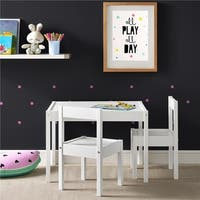 Avenue Greene Dreama White 3-PC Kiddy Table & Chair Set