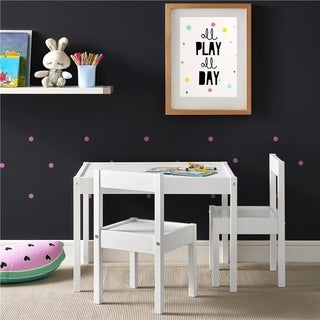 Avenue Greene Dreama White 3-PC Kiddy Table & Chair Set