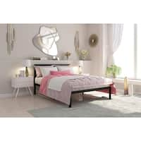 Avenue Greene Monica Metal Full Platform Bed with Headboard