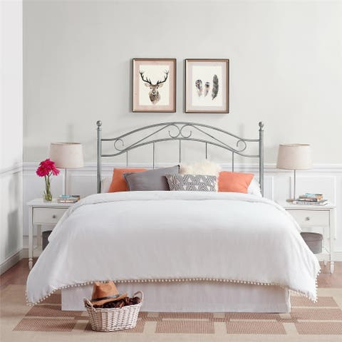 Avenue Greene Irma Pewter Finish Metal Full/Queen Size Headboard