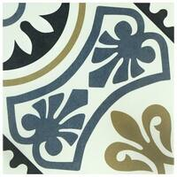 SomerTile 9.75x9.75-inch Mali Tiena Blue Porcelain Floor and Wall Tile (16 tiles/10.76 sqft.)