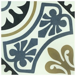 SomerTile 9.75x9.75-inch Mali Tiena Blue Porcelain Floor and Wall Tile (16/Case, 10.76 sqft.)