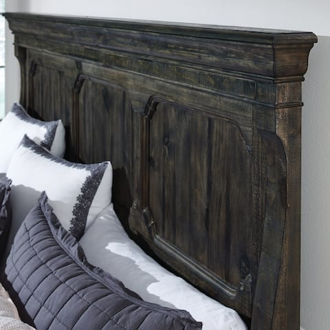 Bellamy Traditional Peppercorn Queen Panel Bed Headboard