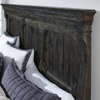 Bellamy Traditional Peppercorn Queen Panel Bed Headboard