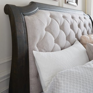 Bellamy Traditional Peppercorn Queen Sleigh Bed Headboard