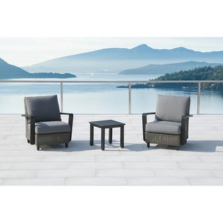 Augusta 3-Piece Gray Conversation Set