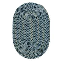 Colonial Mills Capetown Blue Braided Crest Area Rug - 5' x 7'
