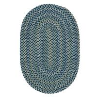 Colonial Mills Capetown Blue Crest Braided Area Rug - 5' x 8'
