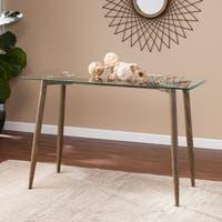 Harper Blvd Callendale Salem Antique Oak w/ Glass Console Table