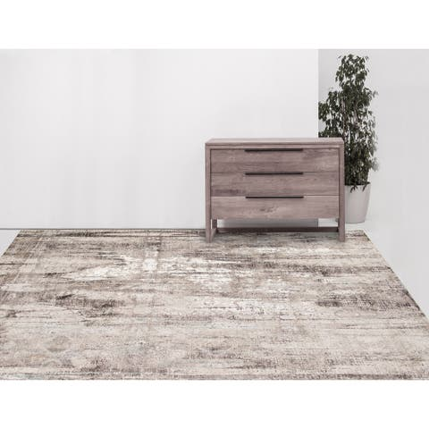 Savannah Nell Abstract Lustrous Polyester Area Rug