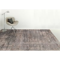 Savannah Distressed Graphite Grey Wilton-woven Transitional Area Rug - 5'3 x 7'6