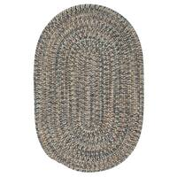 Colonial Mills Farmstand Tweed Lake Blue Oval Area Rug - 8' x10'