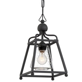 Crystorama Libby Langdon-Sylvan Collection 1-light Black Forged Outdoor Pendant