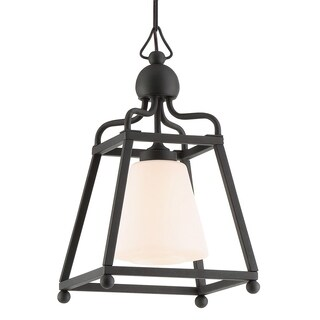 Crystorama Libby Langdon-Sylvan Collection 1-light Black Forged Outdoor Chandelier