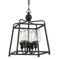 Crystorama Libby Langdon-Sylvan Collection 4-light Black Forged Outdoor Chandelier