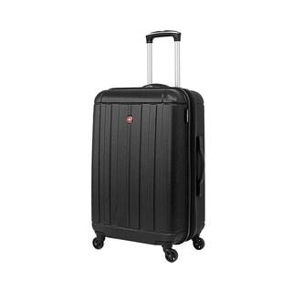 SwissGear Black 24- inch Lightweight Hardside Spinner Suitcase