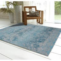 RugSmith Blue Gradient Contemporary Modern Area Rug, 5' x 7' - 5' x 7'