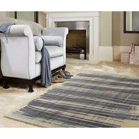 RugSmith Navy Scratch Contemporary Modern Area Rug - 5' x 7'