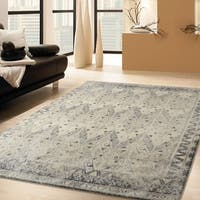 RugSmith Grey Prime Distressed Vintage Inspired Area Rug - 5' x 7'