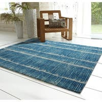 RugSmith Blue Tango Contemporary Modern Area Rug, 5' x 7' - 5' x 7'
