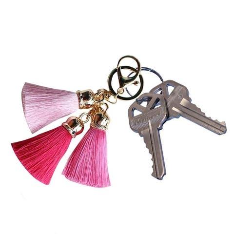 Triple Silk Tassel Keychain