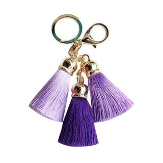 Triple Silk Tassel Keychain (Option: Purple)