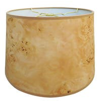 Royal Designs Light Brown Wood Texture Hardback Lamp Shade