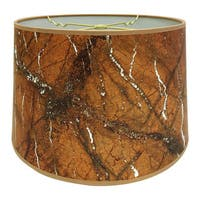 Royal Designs Orange Marble Texture Hardback Lamp Shade