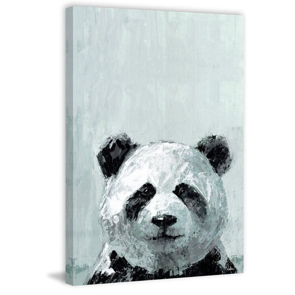Shop  Bonjour Panda  Painting Print on Wrapped Canvas - Free ... f647e86f3