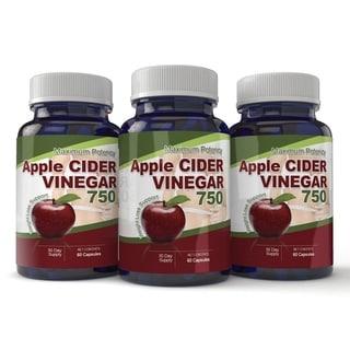 Apple Cider Vinegar Capsules Maximum Potency (Pack of 3)