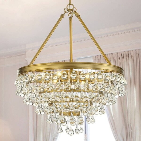 6-light Vibrant Gold Chandelier