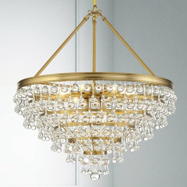 8-light Vibrant Gold Chandelier
