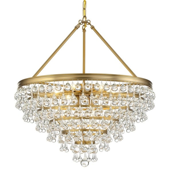 Crystorama Calypso Collection 8-light Vibrant Gold Chandelier