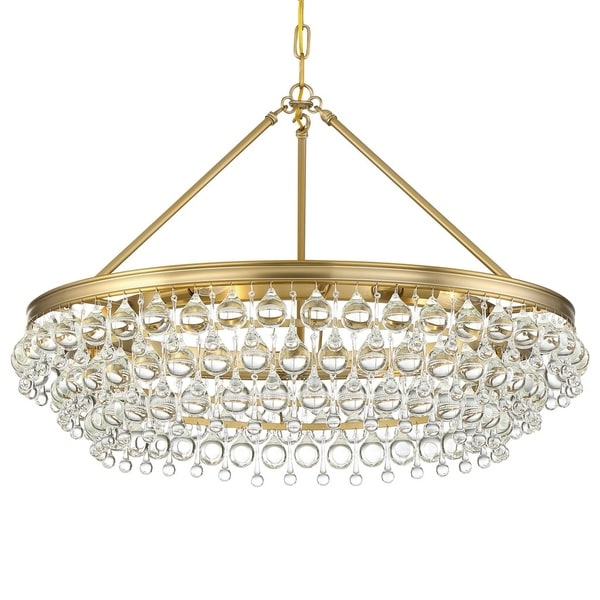 Crystorama Calypso Collection 6-light Vibrant Gold Chandelier