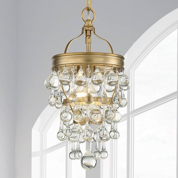 1-light Vibrant Gold Mini Chandelier