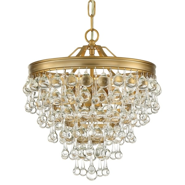 Crystorama Calypso Collection 6-light Vibrant Gold Mini Chandelier