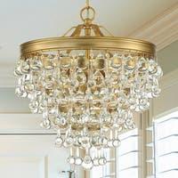 6-light Vibrant Gold Mini Chandelier