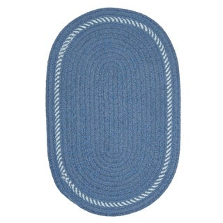 Colonial Mills Blue Braided Oval Area Rug - 8' x 10'