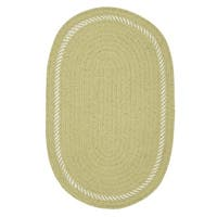 Surroundings Sprout Green/White Oval Reversible Nursery Rug (8' x 10')