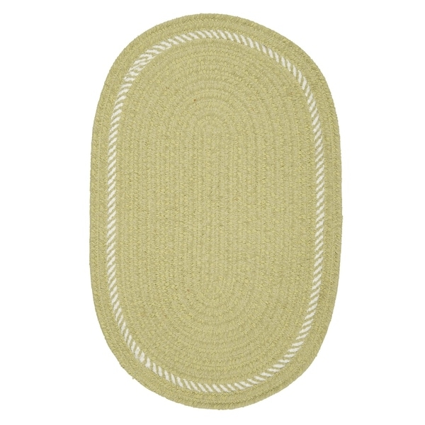 Surroundings Sprout Green/White Oval Reversible Nursery Rug - 8' x 10'