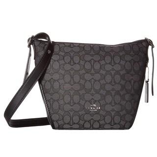 COACH Small Signature Smoke/Black Dufflette Handbag
